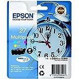 Epson 27 DURABrite Ultra - Cartucho de tinta para impresoras (Cian, Magenta, Amarillo, WF 36xx/7110/76xx)
