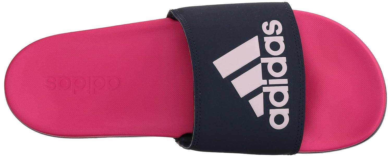adidas Women's Adilette CF+ Logo W Slide Sandal B0714CPKSL 11 B(M) US|Shock Pink/Collegiate Navy/Aero Pink