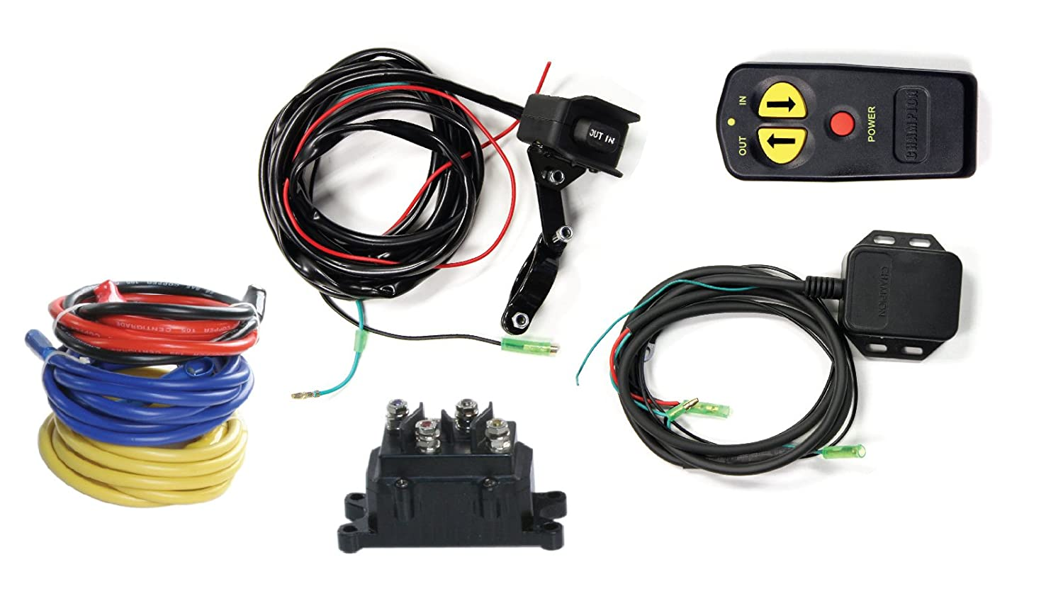 Champion Wireless Winch Remote Control Kit For 5000 Lb Atv Wiring Diagram Relay 40 Or Less Utv Winches Automotive