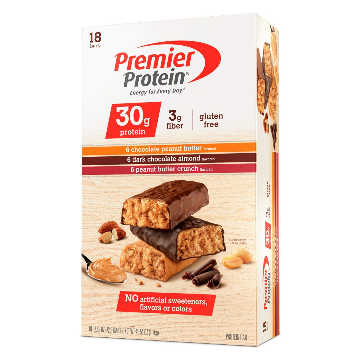 Premier Protein Bar Variety 2 Packk, 2.53 Ounce Each ( 36 Count Total )