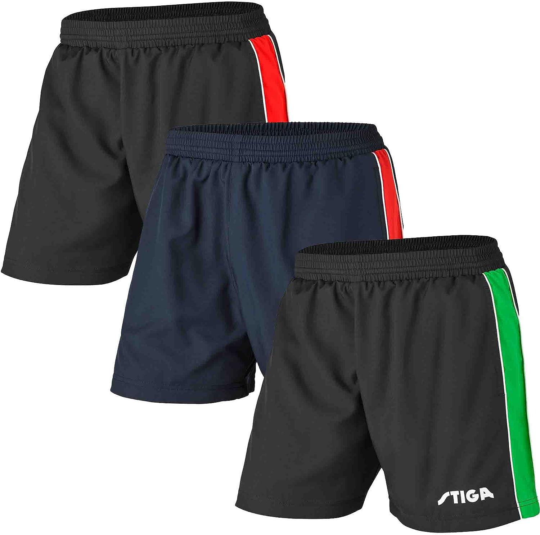 Stiga - Ropa de Tenis de Mesa (Talla XL), Color Negro, Verde y Blanco