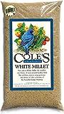 Cole's MI20 White Millet Bird Seed, 20-Pound