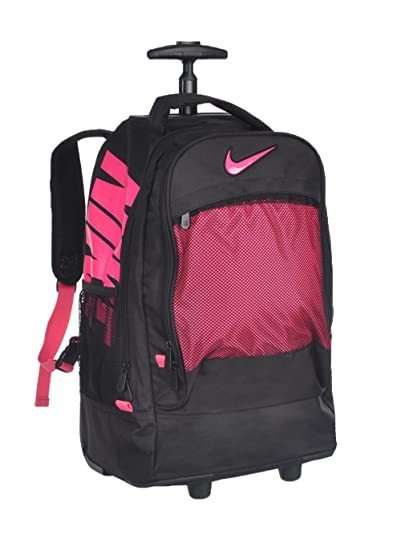 4a14a74546a4 Amazon.com  Nike Extra-Large Wheeled Backpack - black pink