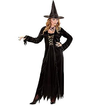 WIDMANN Disfraz de Bruja para Adulto, Vestido con Sombrero de ...