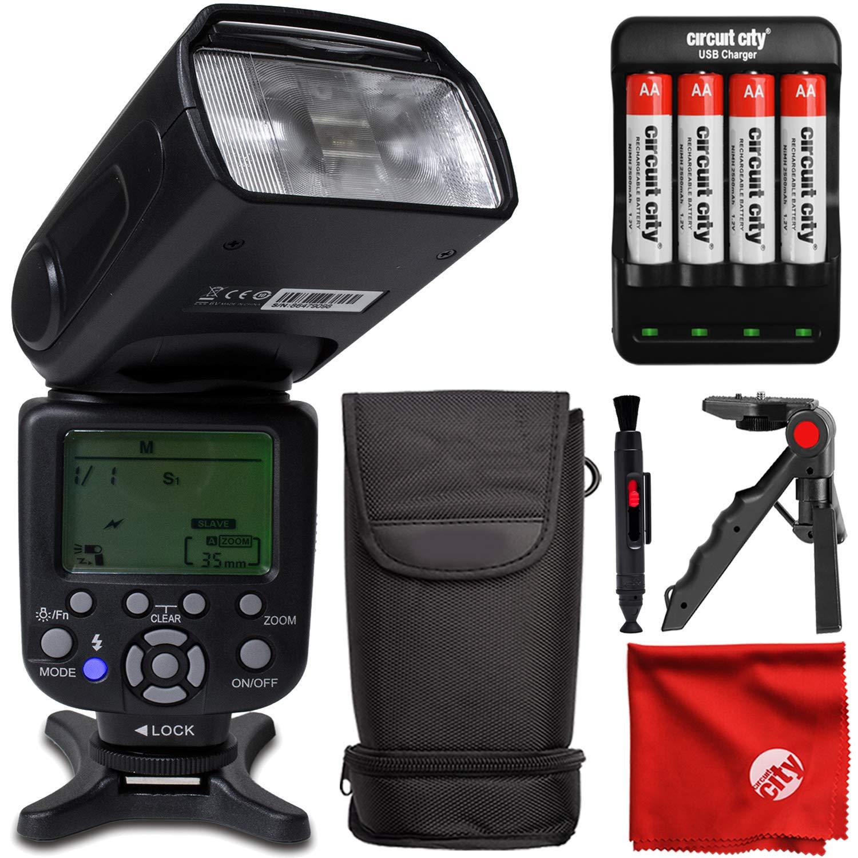 DigitalMate DM680N E-TTL SpeedLight 18-180mm Power Zoom Flash, Bounce, Swivel, LCD Display and Case for Nikon D7500 D7200 D7100 D500 D5600 D5500 D5300 D5200 D3400 D3300 D610 D750 D810 by DigitalMate