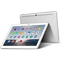 Tablet 10 Pollici - TOSCIDO Android 9.0 Certificato da Google GMS,Quad core,4G LTE Dual Sim Carta,64 GB Memoria,RAM 4 GB,WiFi/Bluetooth/ GPS/OTG,Suono Stereo con Doppio Altoparlante – Argento