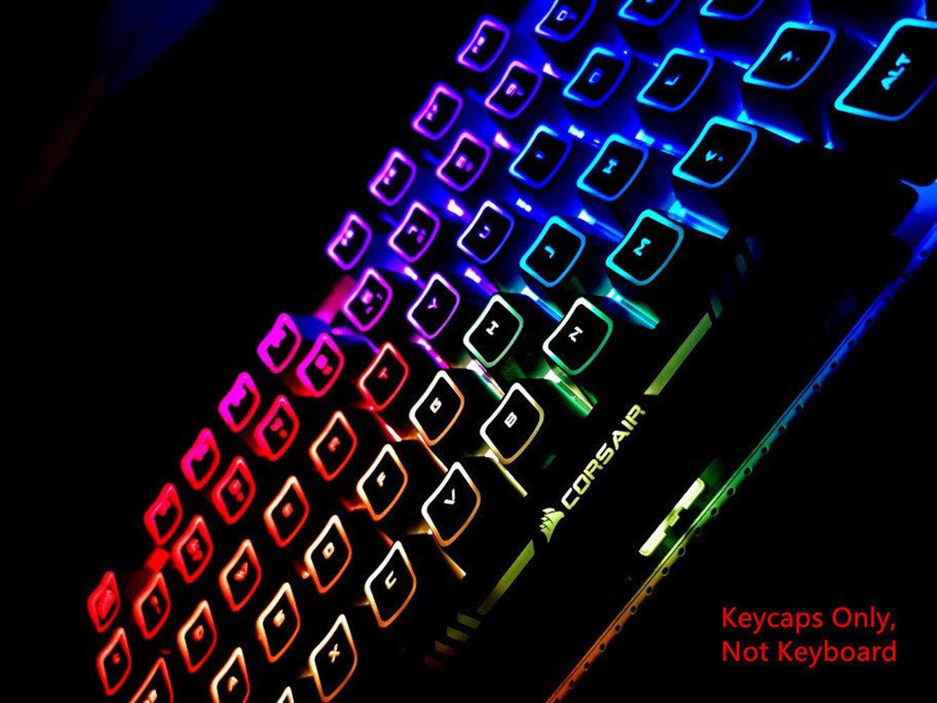 104 Keycaps RO G Style Backlit Keycap Switch for Corsair K65 K68 K70 RGB LUX K95 Platinum RGB Strafe Mechanical Keyboards Gaming