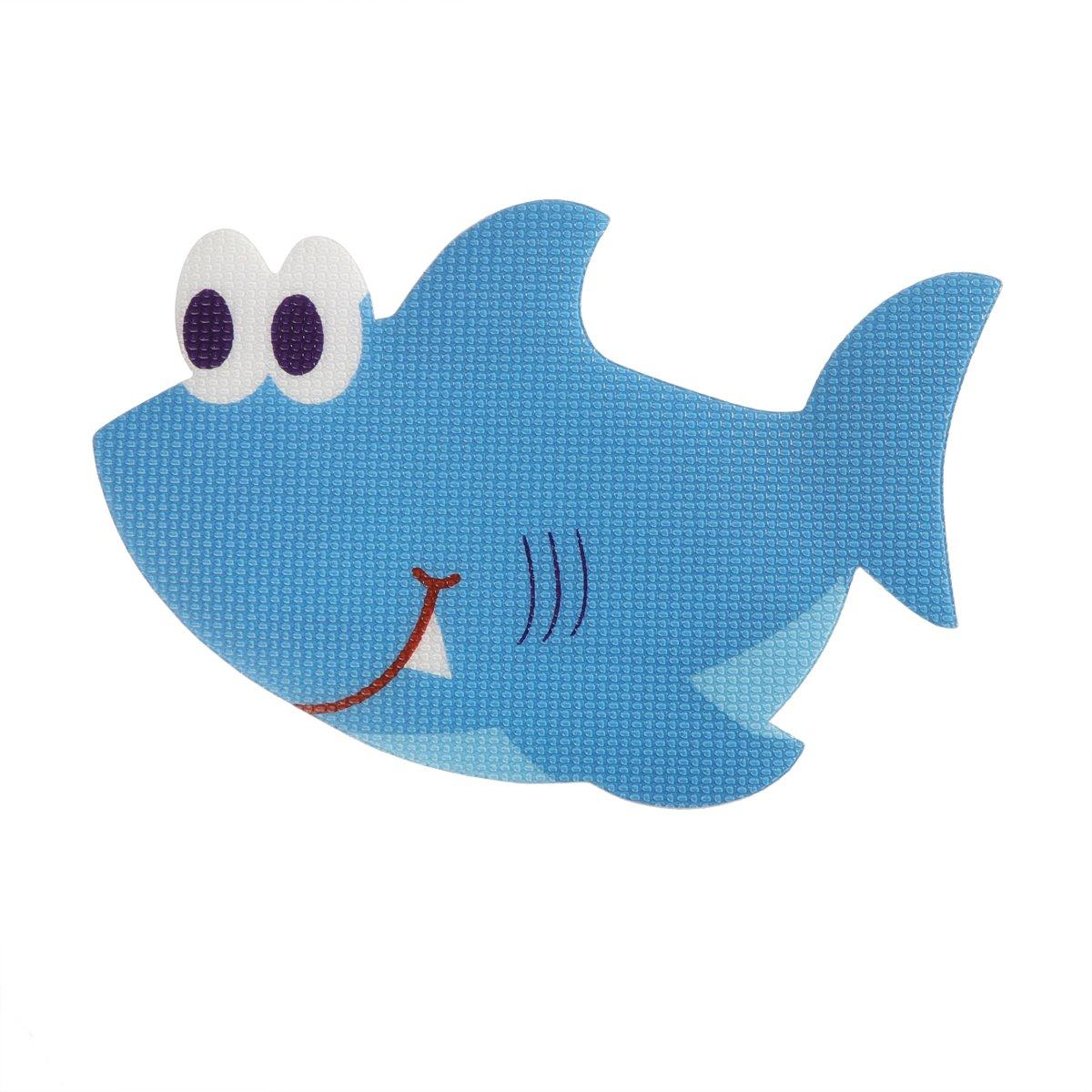 OUNONA 5pcs Adesivi da vasca da bagno antiscivolo pedane di sicurezza adesivo a forma di squalo bagno applique decal (blu)