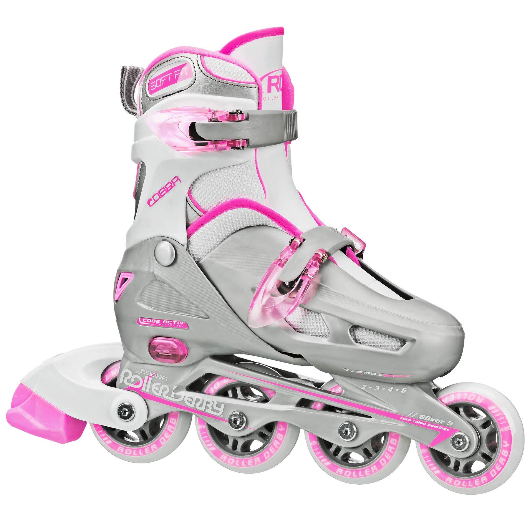 Roller Derby Cobra Girl's Adjustable Inline Skates