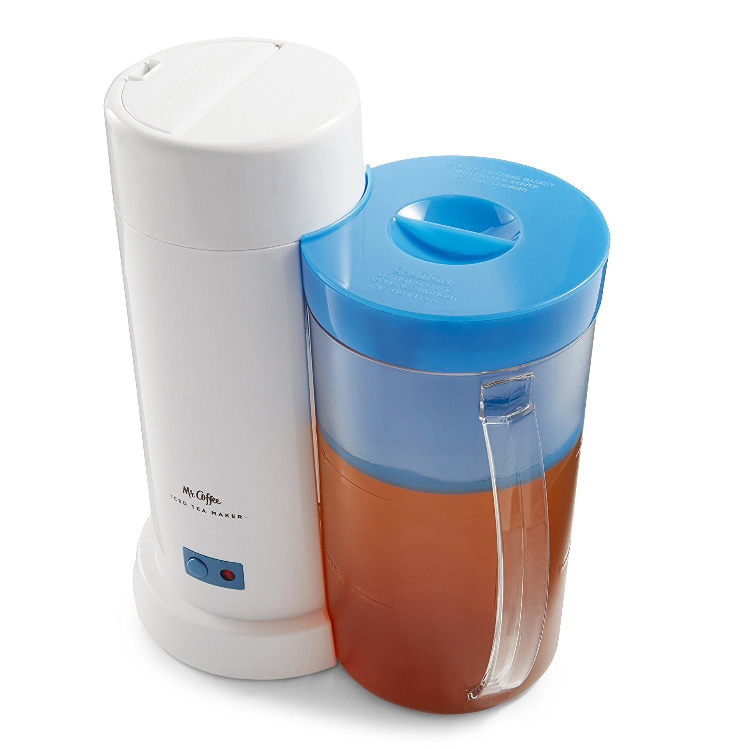TM1 2-Quart Iced Tea Maker for Loose or Bagged Tea, Blue by Mr. Coffee. (Image #2)