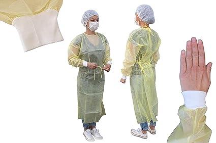 Vestidos de protección Bata desechable MRSA PP / PE amarillo 139 x 139 cm 10-
