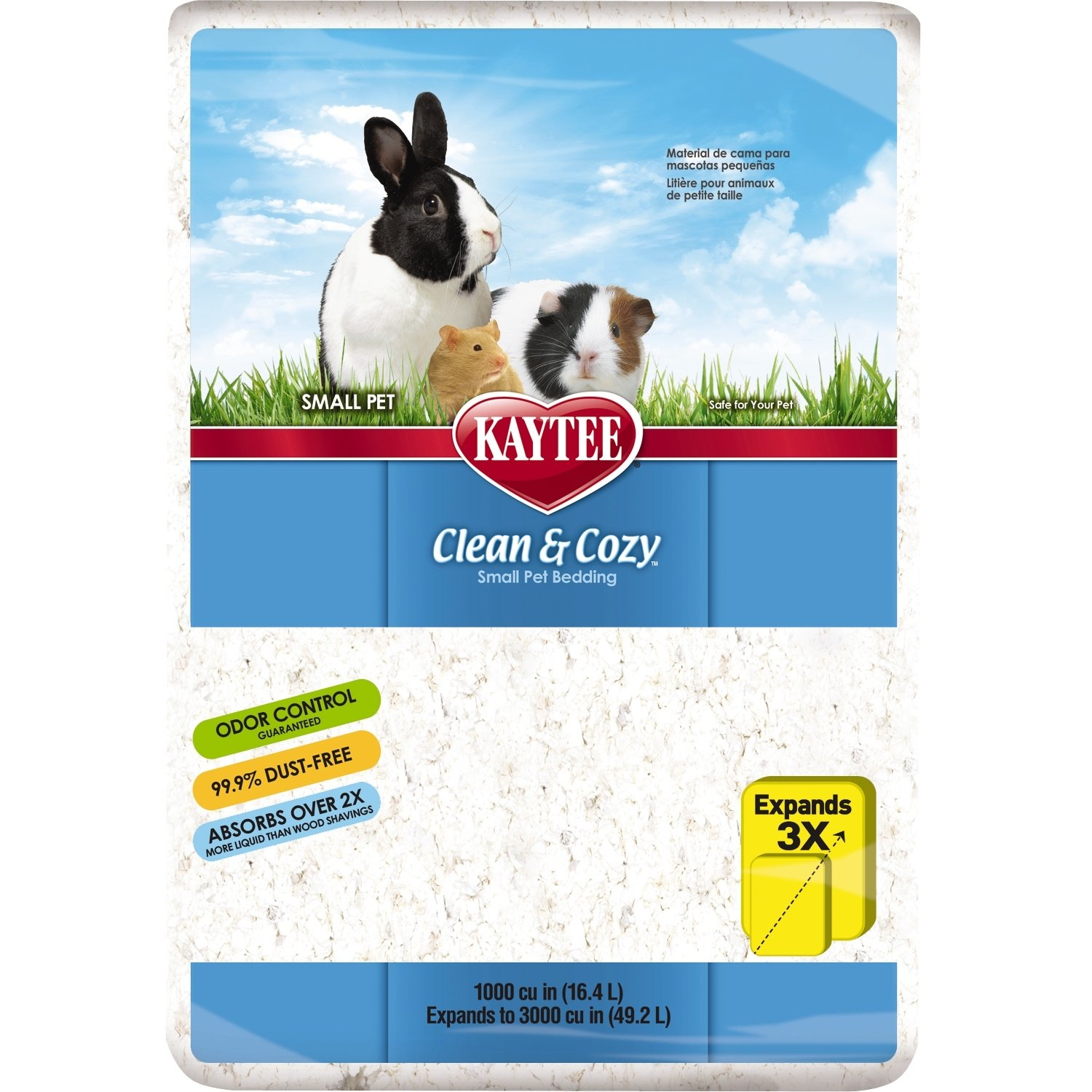 Kaytee Clean and Cozy Small Pet Bedding, White, 1000 cu.in.