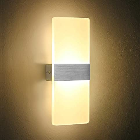 netboat lampada da parete 6w led interni moderno applique da ... - Applique Per Camera Da Letto