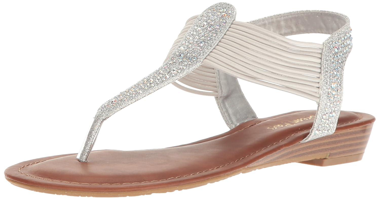 DREAM PAIRS Women's Spark Wedge Sandal B06XDC6K11 8 B(M) US|Silver Glitter