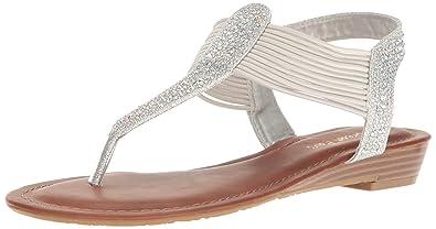 DREAM PAIRS Women's Spark Wedge Sandal Flip Flops MW2ZX9XUA