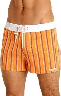 product image for Sauvage Retro Swim Short Orange Stripe
