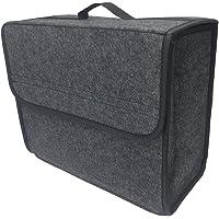 BUENNUS Soft Felt Car Bag Organizer 13.8x11.8x7.9 Inch Folding Car Storage Box Non Slip Fireproof Car Trunk Organizer…