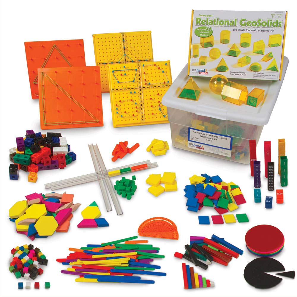 Amazon Com Hand2mind Math Manipulative Toolkit For Kids Grade 6 Encourage Students To Solve Math Concepts With Multiple Hands On Manipulatives Industrial Scientific
