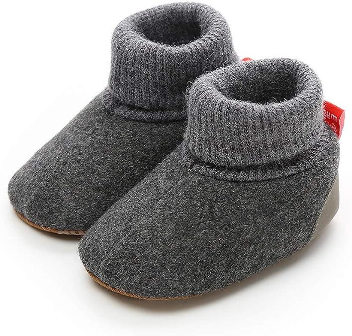 ENERCAKE Baby Girls Boys Booties Non-Slip Warm Snow Boots Infant Winter Shoes Newborn Toddler Prewalker Crib Shoes