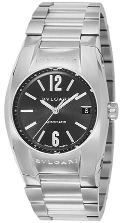 d168d70913cb [ブルガリ]BVLGARI 腕時計 エルゴン ブラック文字盤 自動巻 デイト EG35BSSD メンズ 【並行