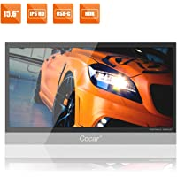 """15.6"""" Ultra-Slim Portable Monitor IPS Display Full HD 1080P for PC Laptop Gaming PS4 XBox DVD Player HDMI Metal Housing…"""