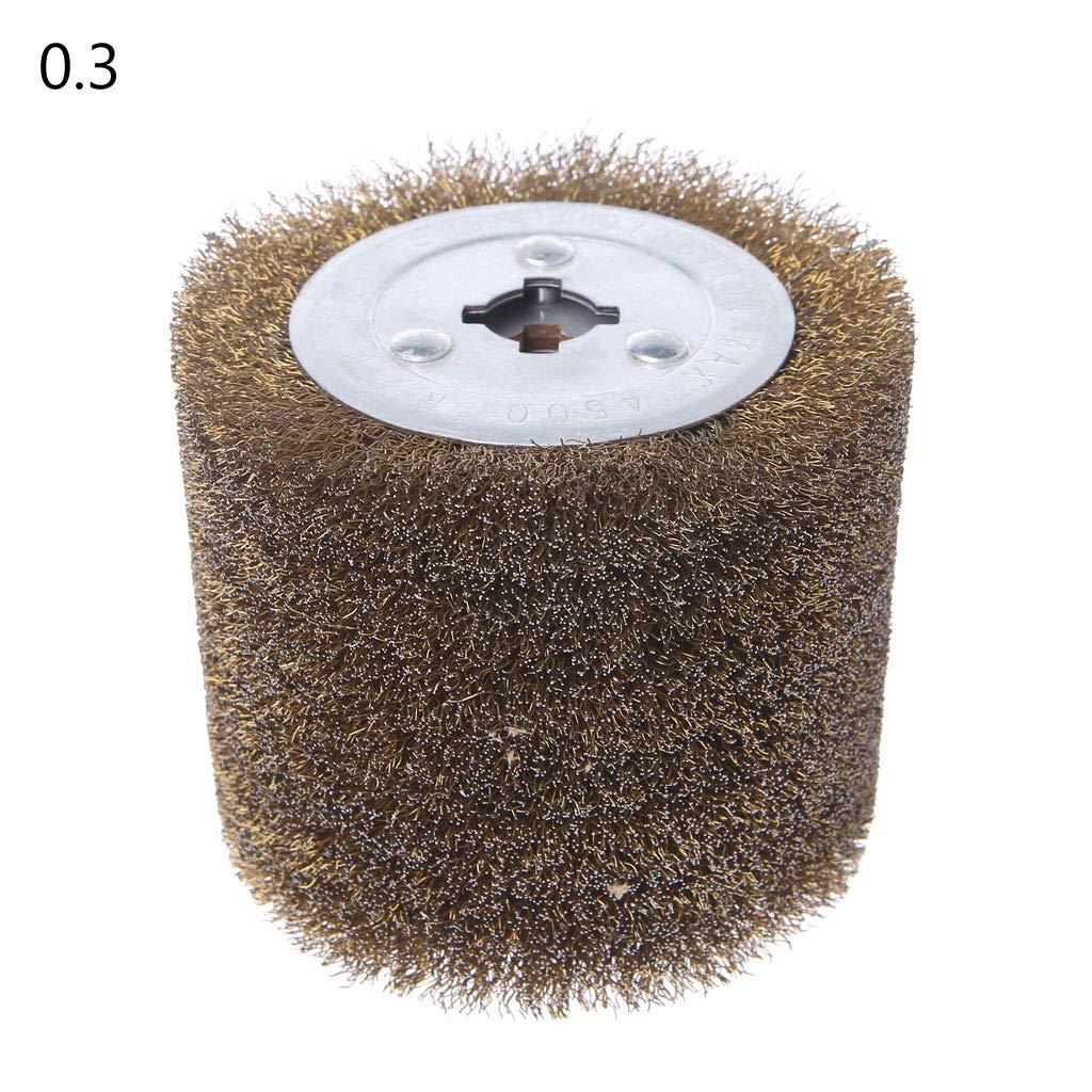 LOLOVI Deburring Abrasive Stainless Steel Wire Round Brush Polishing Grind Buffer Wheel