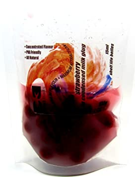 Fresas con leche condensada