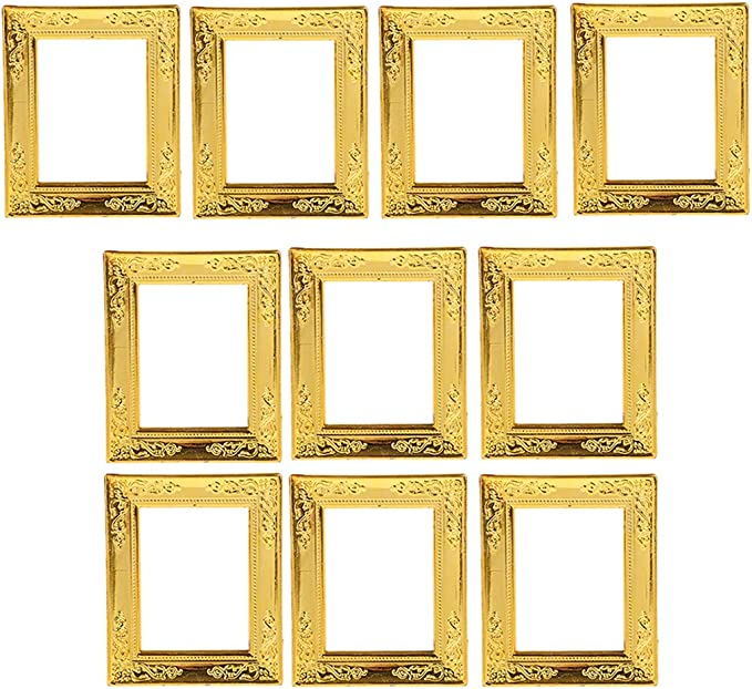 1:12 01 Miniature Picture In Fine Gold frame//Dolls House Shepherd,,