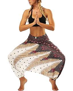 44bc9f2f264 LVCBL Harem Pants Women s Hippie Bohemian Yoga Aladdin Pants Jumpsuit