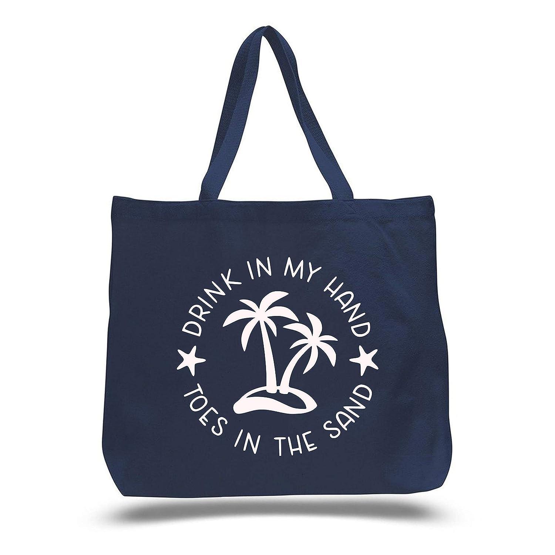 Aqua and Red Tropical Tote Bag Palm Carryall Beach Tote Bag Rain Forest Tote Bag Tropical Tote Bag Coastal Tote Bag