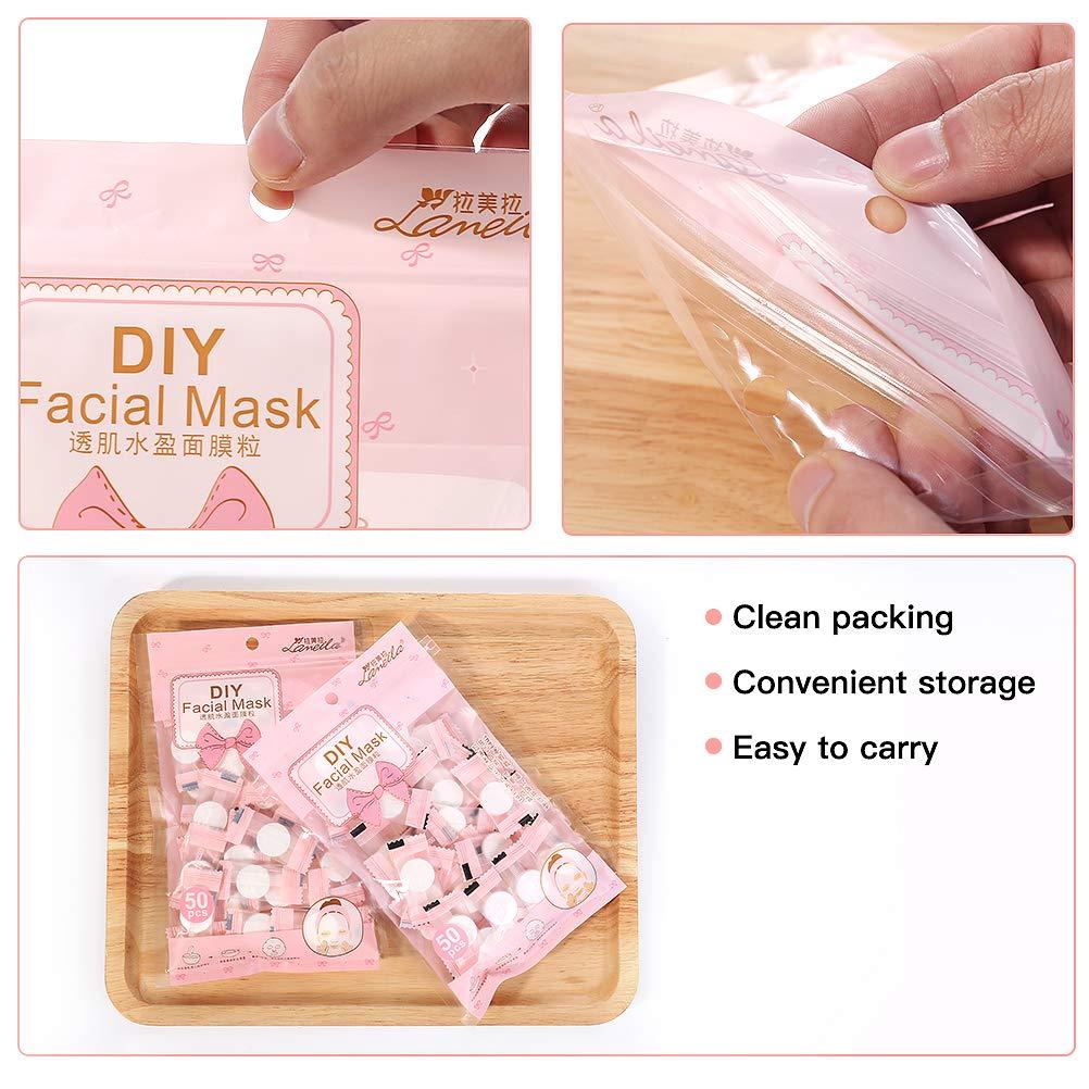 Compressed Mask Paper Cotton Diy Face Mask Soft Facial Mask Paper Ultra Thin Compressed Face Mask Sheet Compress Masque Mask For Women Pack Of 50