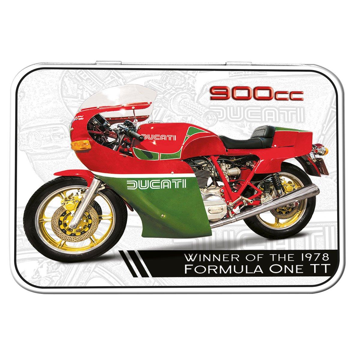 Red Hot Citron Ducati 900CC Mike Hailwood Souvenir Étain, Rouge/Vert, 111x 80x 21mm Red Hot Lemon 50432