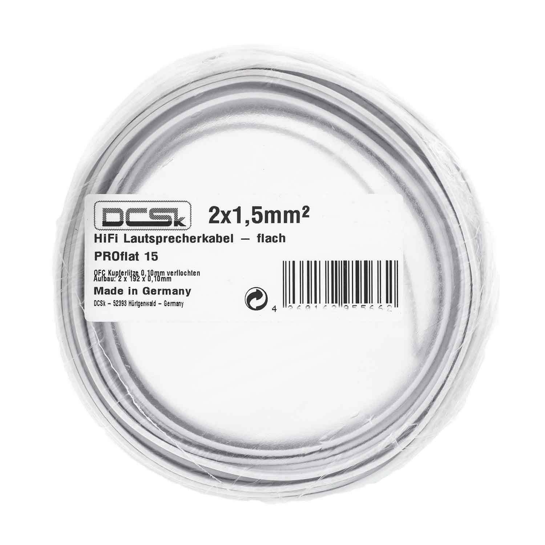 DCSk 10m - 2x1,5mm² flaches Lautsprecherkabel: Amazon.de: Elektronik