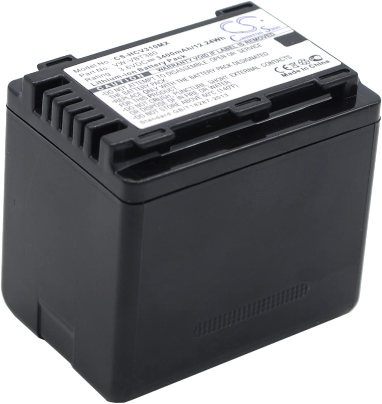 PN PANASONIC VW-VBT380 VXF-999 HC-W580 HC-W570 XPS Replacement Battery for Panasonic HC-V520M HC-V270 HC-V130 HC-W850EB HC-V110
