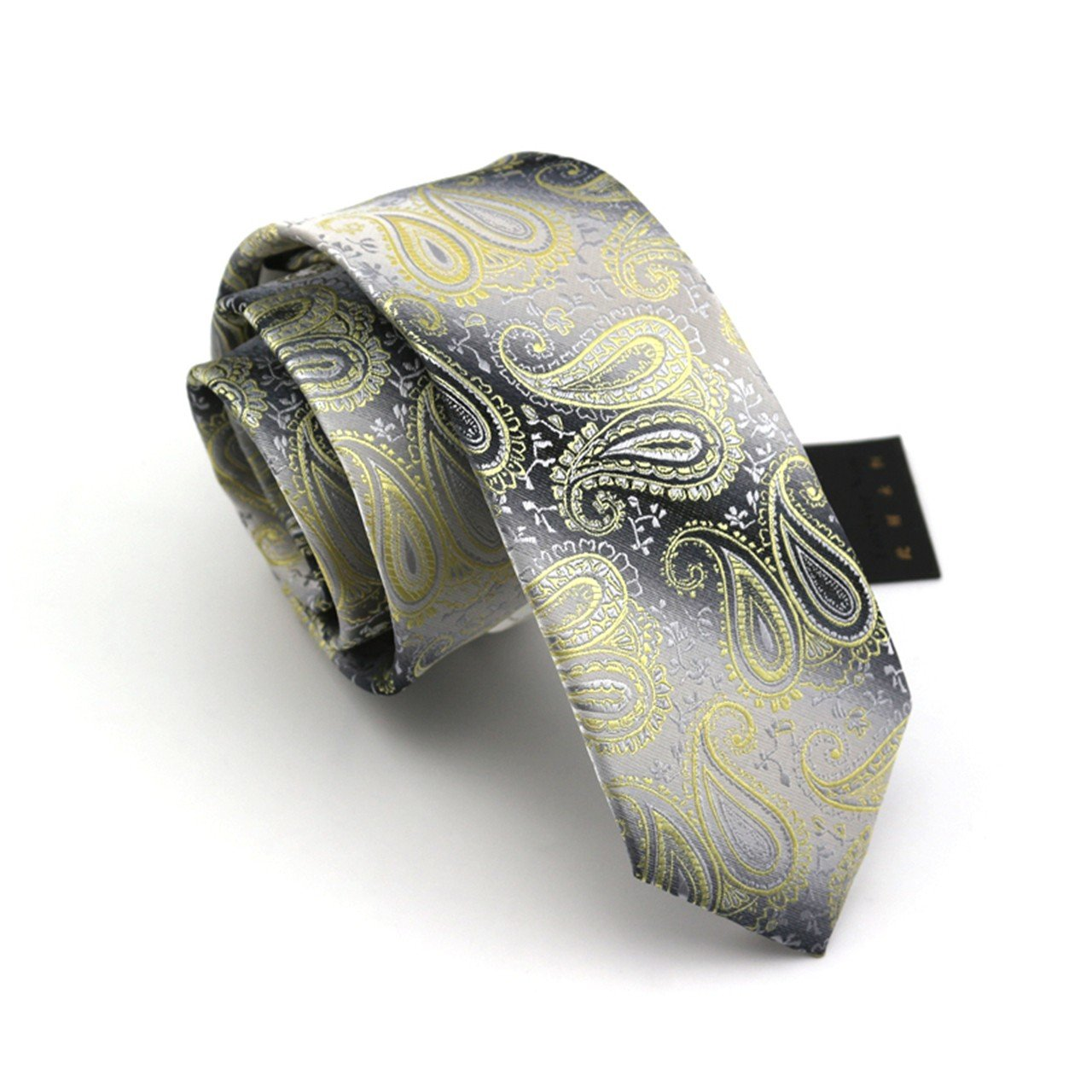 HXCMAN 7cm black grey golden 100/% silk classic design men tie necktie all-match party business evening wedding groom in gift box