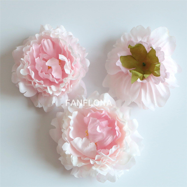 Amazon Wholesale Silk Flowers Artificial Peony Flower Heads 100