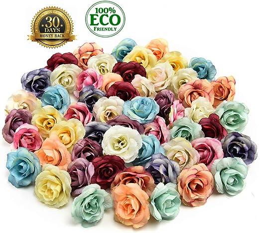 Wholesale!10-50pcs Simulation Flowers Silk Flower Heads Wedding Party