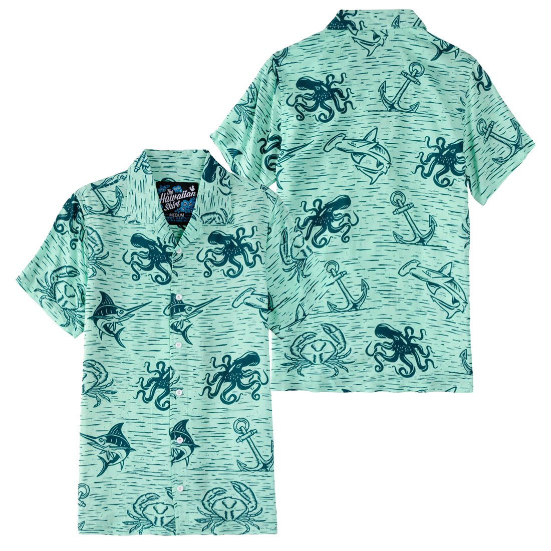 b597a759 Rowdy Gent. Down Under Hawaiian Button Up, Teal at Amazon Men's Clothing  store: