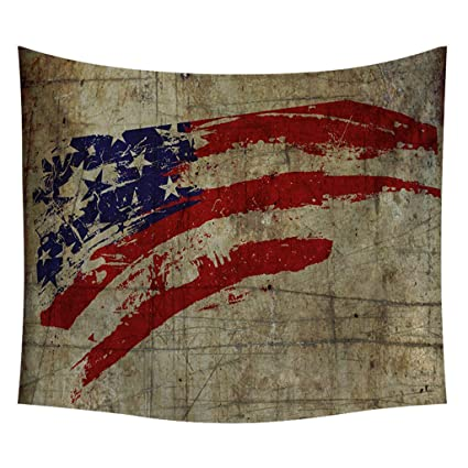 Amazon.com: 4th of July USA Flag Tapestry Wall Decor Family ...