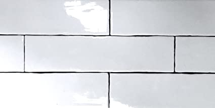 3x12 Glossy Finish White Subway Ceramic Tile Wall Backsplash ...