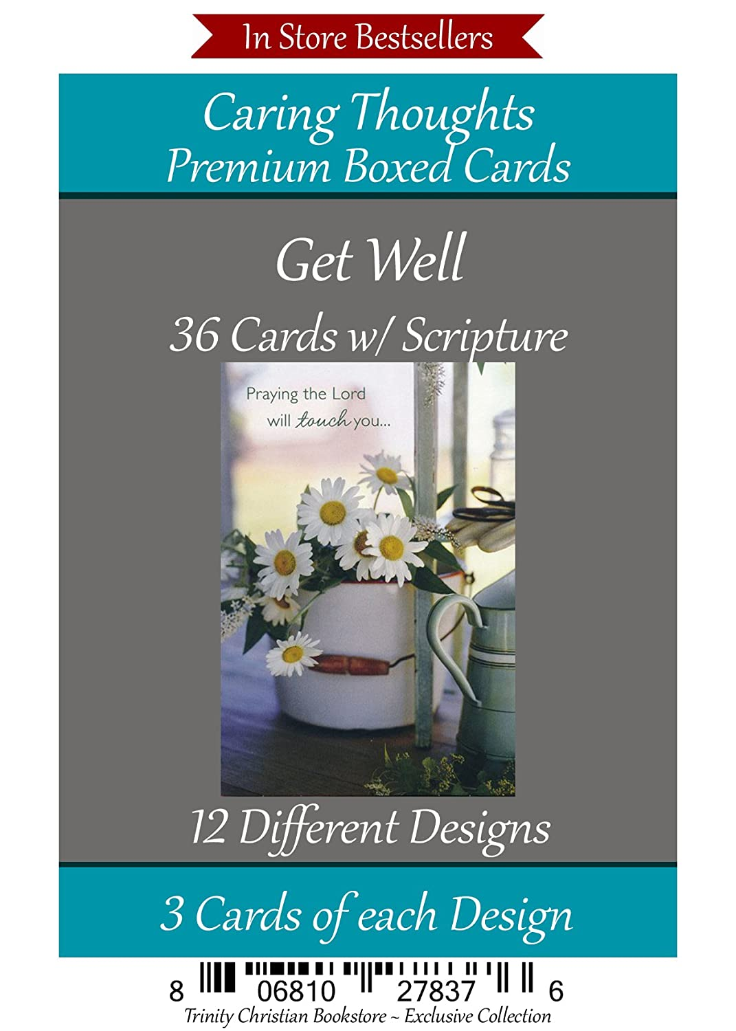 Amazon Get Well Cards Premium 36 Count Christian Religious