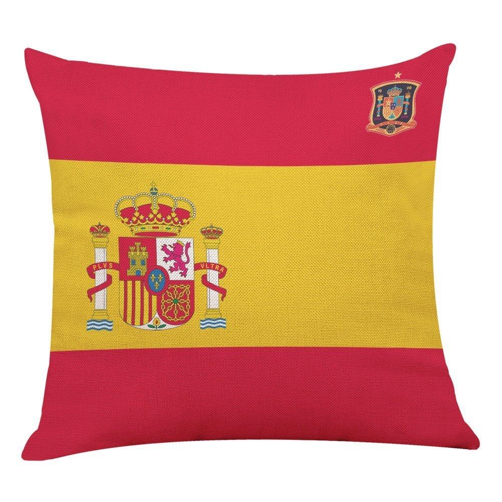 Naisidier - Funda de almohada con la bandera nacional de la Federación de Rusia 2018, diseño de equipo de fútbol de la FIFA, impresión de bandera nacional, fundas de almohada, fundas de almohada para el hogar, dormitorio, sofá, decoración de vacaciones