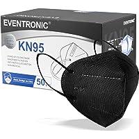 Eventronic- Mascarilla FFP2/KN95 5-Layer Protective Face Mask, CE Certified,Black (50pcs/Box)