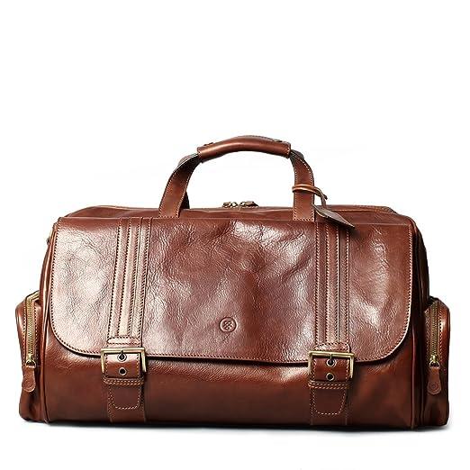 71880b1823ad Maxwell Scott Luxury Mens Leather Holdall (The DinoM) - Medium