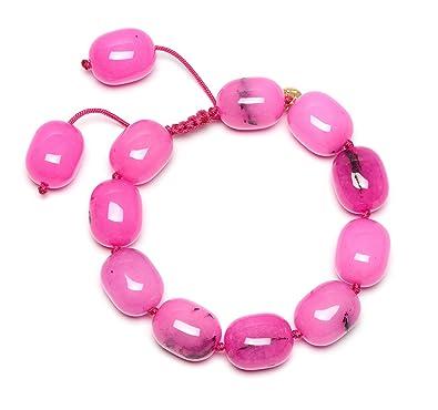 Lola Rose Women Pink Quartz Strand Bracelet of Length 18cm 715898 LNEwEPn8hK