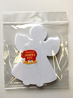 """product image for 5.5"""" Angel Single Color Creative Paper Cut-Outs, 31 Cut-Outs in a Pack for Christmas/Winter Celebrations Décor and Kids Classroom Craft Projects"""