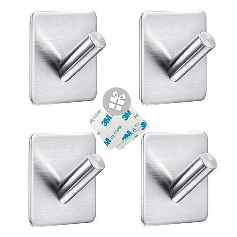 Amazon.com: Nozama - Ganchos adhesivos para colgar toallas y ...