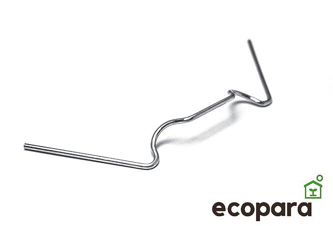 Ecopara 100x Federstahl Gewachshausklammern Sturmfest Glasklemmen