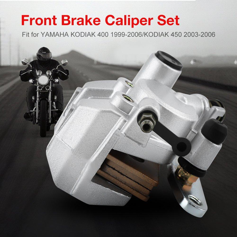 Acouto 2PCS Professional Front Rear Brake Caliper Assembly for YAMAHA KODIAK 400 1999-2006//KODIAK 450 2003-2006