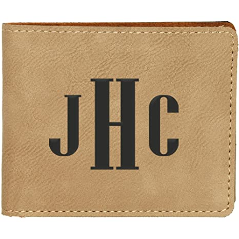 Custom Bi Fold Wallet With Engraved Monogram